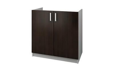 Долен кухненски шкаф Кети М5 Венге/Бяло за бордова мивка - 80 см.