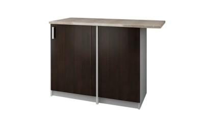 Долен кухненски шкаф Кети М18 Венге/Бяло за ъгъл с включен термоплот - 120 см.