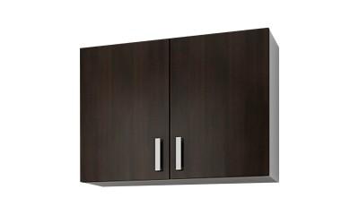 Горен кухненски шкаф Кети М1 Венге/Бяло с две врати - 80 см.