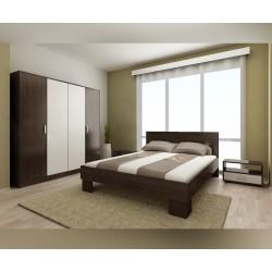 Спален комплект Демин за матрак 160/200 см. - Венге/ Бяло