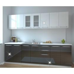 Кухня Нове - бял/черен гланц