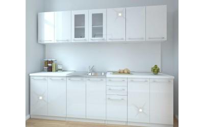 Кухня Нове - бял гланц