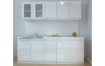 Кухня Ронел - бял гланц
