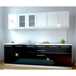 Кухня Таво - бял/черен гланц