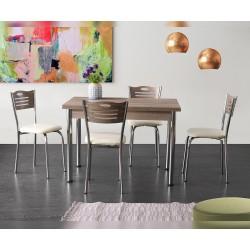 Комплект трапезна маса с 4 стола Кармен