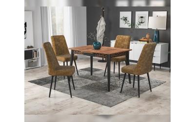 Комплект трапезна маса с 4 стола Милано
