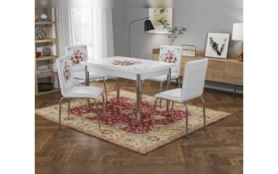 Комплект трапезна маса с 4 стола Ориент
