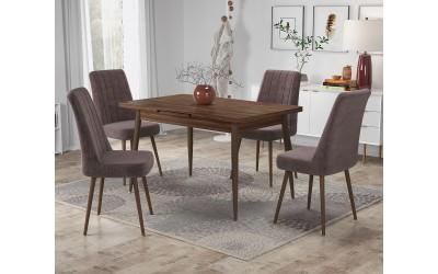 Комплект трапезна маса с 4 стола Салерно