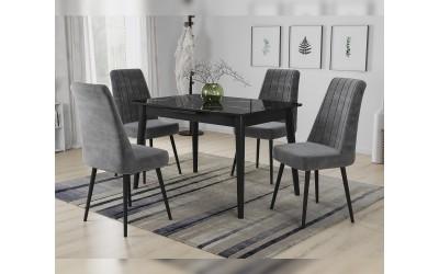 Комплект трапезна маса с 4 стола Силия