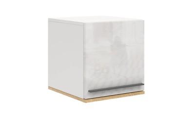 Шкафче с врата Kiara M13 - Oak hamilton natur/бял гланц/бяло