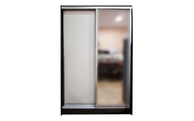 Двукрилен гардероб Жан с плъзгащи врати - Венге/Бяло 120 см.