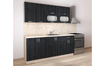 Готова модулна кухня Донна 3 - 200 см. - МДФ Грей/ Дъб сонома