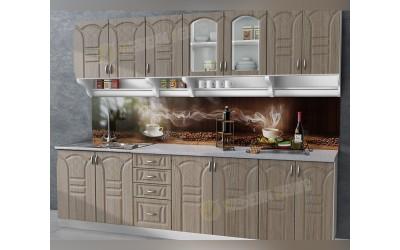 Готова модулна кухня Корона МДФ - Тъмна сонома 260 см.
