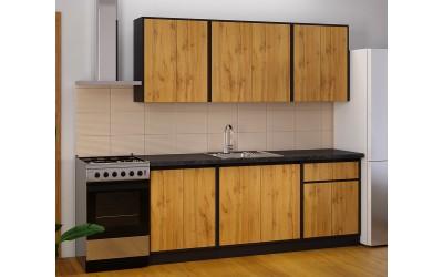 Готова модулна кухня Матина - 200 см. - Дъб Аплачи / Венге