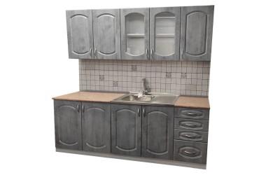 Готова модулна кухня Олга МДФ - Бетон 200 см.