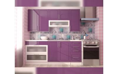 Готова модулна кухня Перла МДФ - Лилаво/Бяло 200 см.