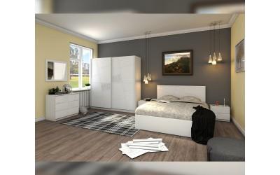 Спален комплект Декор - бяло фладерно
