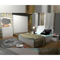 Спален комплект Еко - бяло фладерно