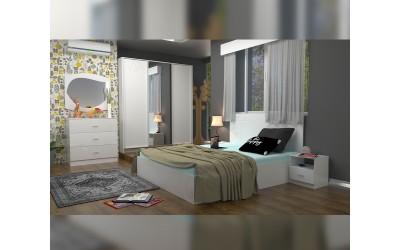 Спален комплект Еко 3 - бяло фладерно