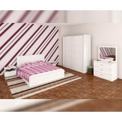 Спален комплект Гала - бяло фладерно