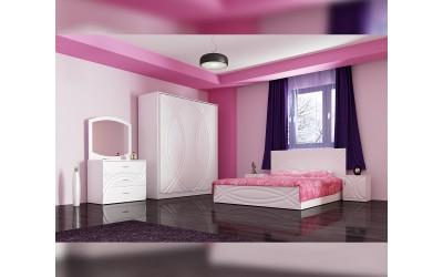 Спален комплект Ванеса - бяло фладерно