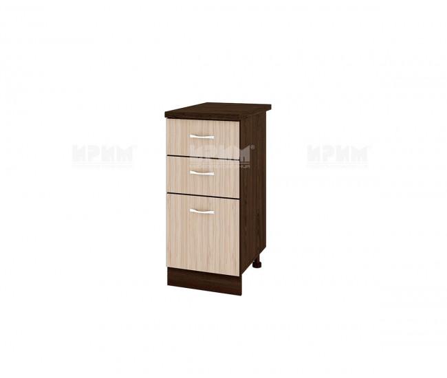 Долен кухненски шкаф Сити ВА-27 с две чекмеджета и врата - 40 см.
