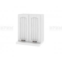 Кухненски горен шкаф за аспиратор Сити БФ-Бяло фладер-04-13 МДФ - 60 см.