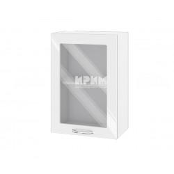 Кухненски горен шкаф Сити БФ-Бяло гланц-05-218 МДФ - 50 см.