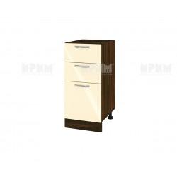 Кухненски долен шкаф Сити ВФ-Бежово гланц-05-27 МДФ - 40 см.