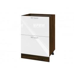 Кухненски долен шкаф Сити ВФ-Бяло гланц-05-44 МДФ - 60 см.