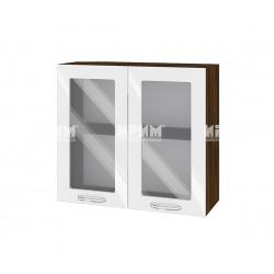Кухненски горен шкаф Сити ВФ-Бяло гланц-05-204 МДФ - 80 см.