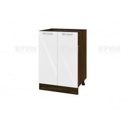 Кухненски долен шкаф Сити ВФ-Бяло гланц-05-22 МДФ - 60 см.
