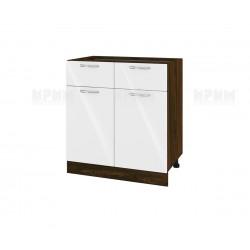 Кухненски долен шкаф Сити ВФ-Бяло гланц-05-26 МДФ - 80 см.