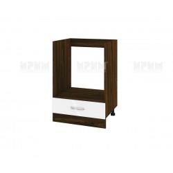 Кухненски долен шкаф за фурна Сити ВФ-Бяло гланц-05-36 МДФ - 60 см.