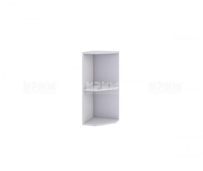 Горна ъглова кухненска етажерка с рафт Сити Б - 14 - 30 см.