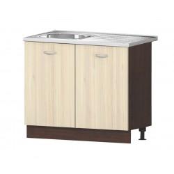 Кухненски шкаф с включена бордова мивка 100/60 см.