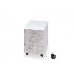 Контейнер за бюро Бял - с чекмеджета