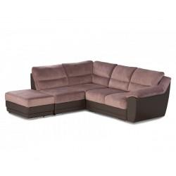 Ъглов диван и табуретка Малиция Комфорт Плюс с функция сън