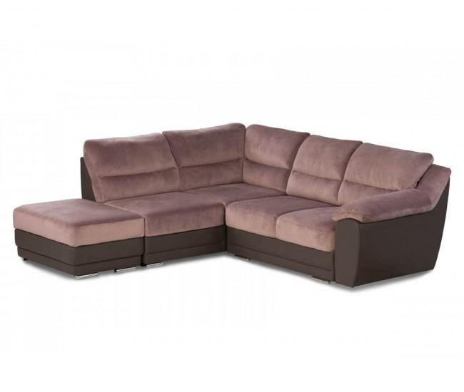 Ъглов диван и табуретка