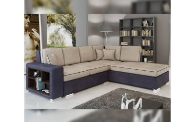 Ъглов диван Сена NEW - с функция сън, етажерка и ракла