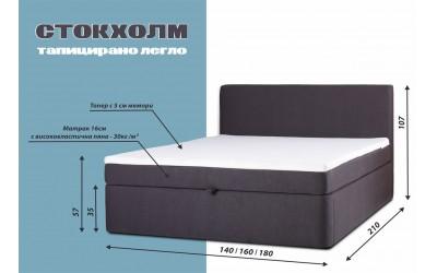 ЛИКВИДАЦИЯ - Спалня Стокхолм с матрак 180/200