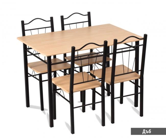 Комплект маса с 4 стола 20009