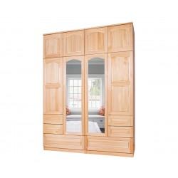 Четирикрилен гардероб Масив 10