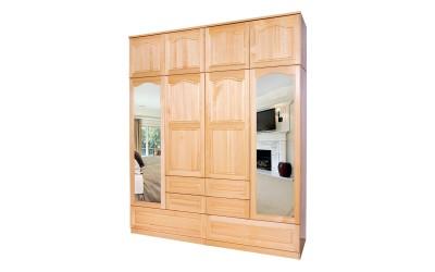 Четирикрилен гардероб Масив 10А