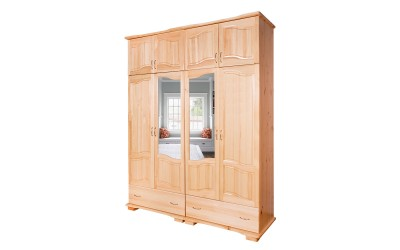 Четирикрилен гардероб Масив Лукс 11