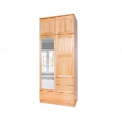 Двукрилен гардероб Масив Комбниран B 3