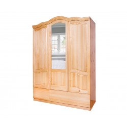 Трикрилен гардероб Масив Баварски 7