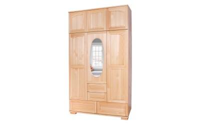 Трикрилен гардероб Елипса Масив 6