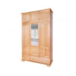 Трикрилен гардероб Масив Лукс 8