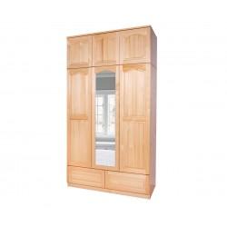 Трикрилен гардероб Масив прав 5